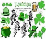 Photoshop愛爾蘭國慶節筆刷