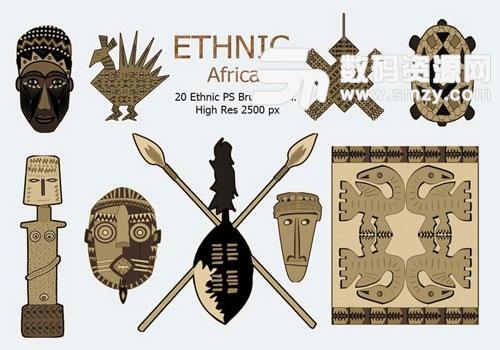 非洲部落素材PS笔刷下载