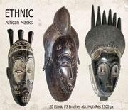神秘獨特的非洲筆刷