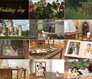 浪漫婚礼城堡三维立体AE相册模板