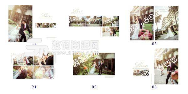 """""""婚纱摄影模板 单车骑""""-全套JPG缩略图"""