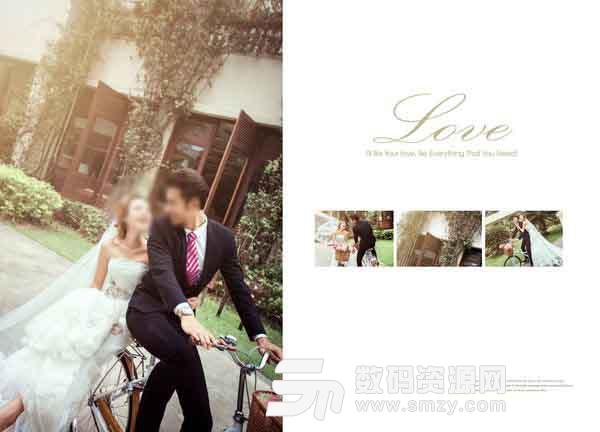 婚紗攝影模板 單車騎 01