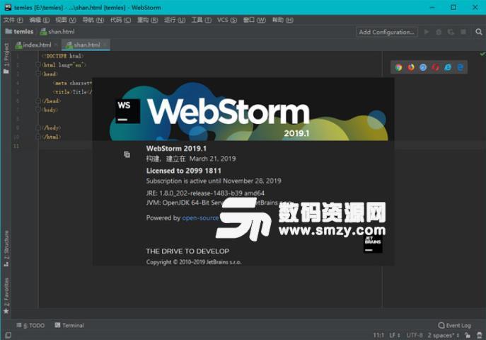 Webstorm2019中文补丁