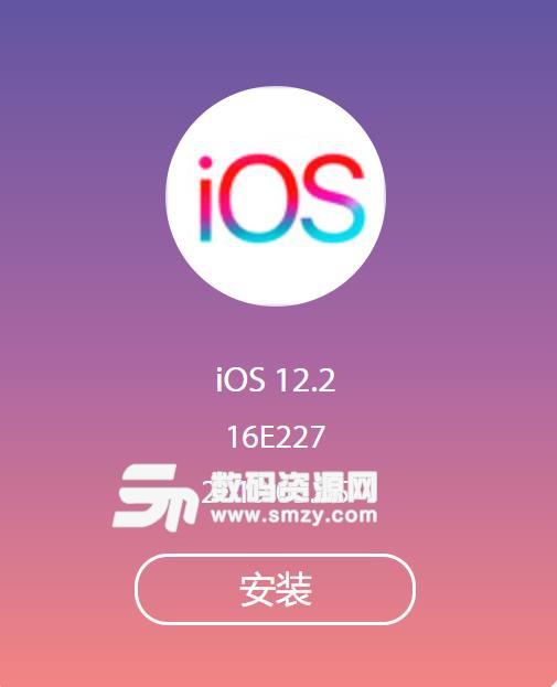 苹果ipad12.2正式版升级固件