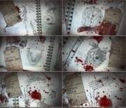 血腥恐怖的人体器官笔记本开场模板