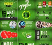 春季绿色广告宣传促销动画AE模板