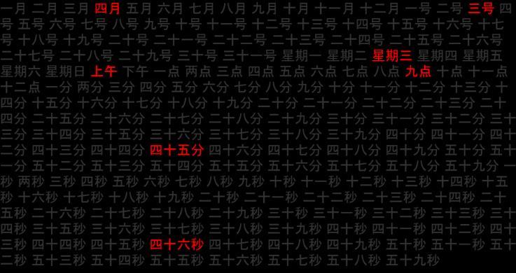 抖音文字云时钟Word Clock屏保-妄念博客