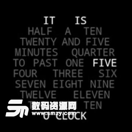 文字云時鐘Word Clock下載