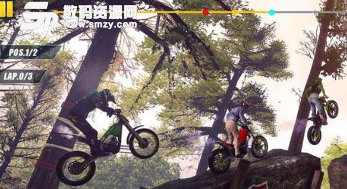 摩托车飞跃特技游戏