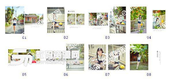 整套【写真相册模板 夏の自在B】缩略图