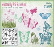 漂亮的蝴蝶筆刷