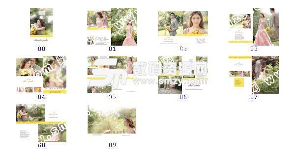 整套【婚纱照设计模板 爱情花园】缩略图