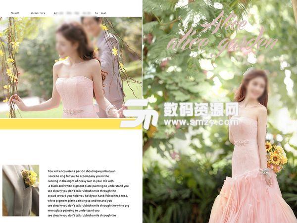 婚纱照设计模板 爱情花园 01