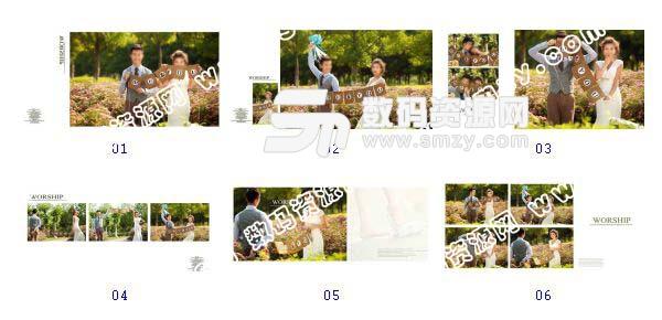 整套【婚纱照相册模板 草坪MASD】缩略图