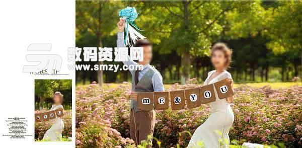 婚纱照相册模板 草坪MASD 02