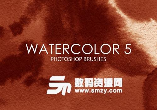 高質量水彩紋理PS筆刷下載