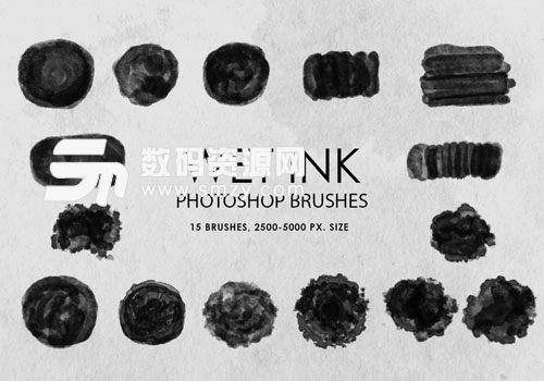 photoshop墨水筆刷下載