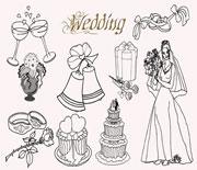 20个简笔画婚礼笔刷