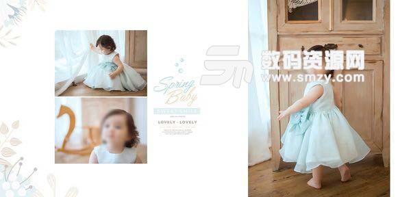 儿童相册模板 可爱宝宝 01