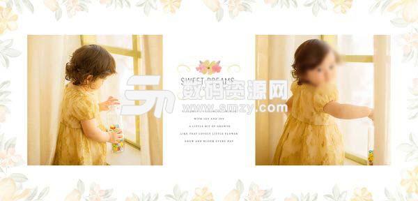 儿童摄影模板 漂亮女孩 01