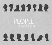 各种人物头像剪影笔刷