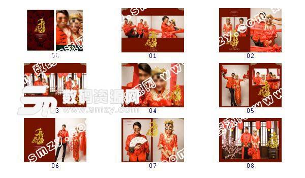 【婚纱照设计模板 千里婵娟】-整套JPG预览图
