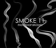 線條比較硬的細煙煙霧筆刷