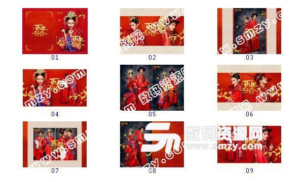 【婚紗攝影模板 百年好合】-整套JPG預覽圖