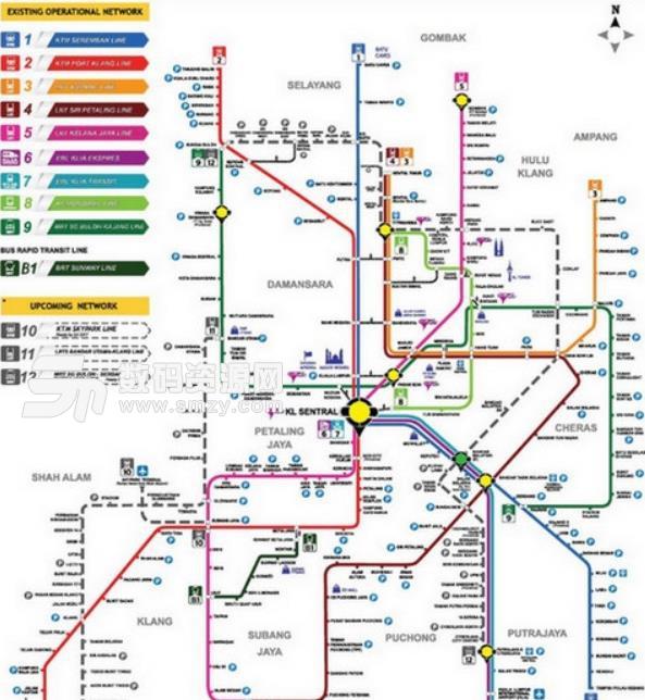 吉隆坡地铁线路图高清电子版下载