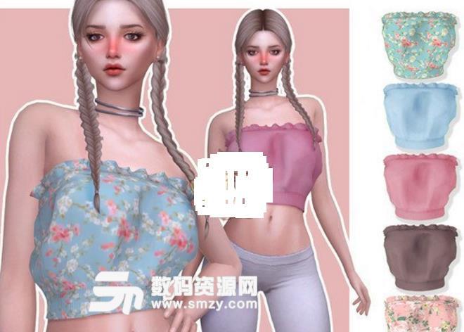 模拟人生4女性花边宽松上衣MOD