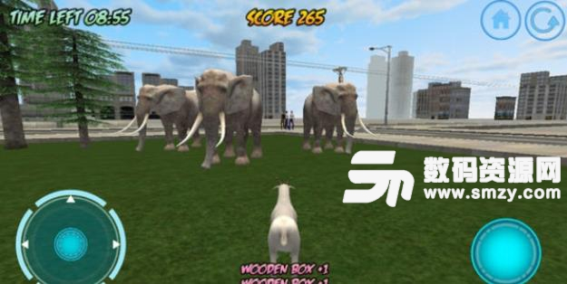 游戏中你将控制一只山羊在城市中奔驰,小心躲避各种汽车,小心被砸中,穿越不同的场景,速度会更快,还能自由选择山羊哦。体验一个山羊主宰城市的疯狂世界!动物们已经在这个模拟器里疯狂了!为了生存,防止山羊与汽车相撞!在这个激动人心的山羊模拟器中,比赛、爆炸和惊喜等着你!