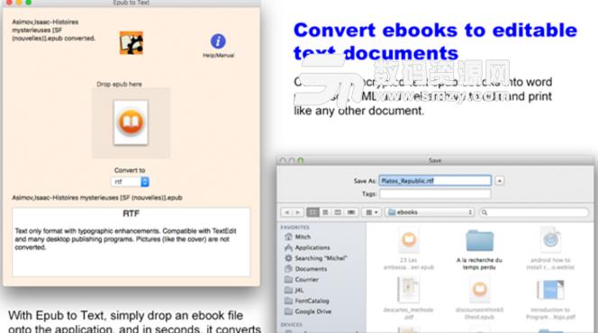 Epub to Text Mac版