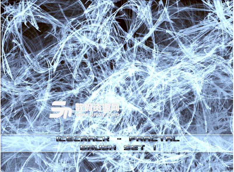 混乱冰裂纹理图案PS光影特效笔刷