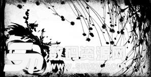 植物装饰图案效果PS笔刷素材