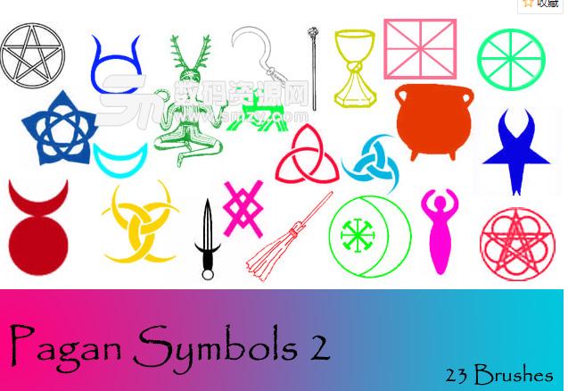 邪恶宗教、异端符号PS笔刷素材