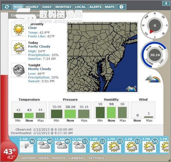 天氣觀察的重要數據