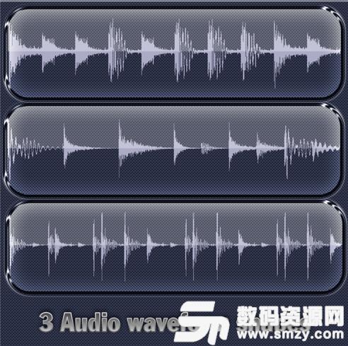 音頻波形圖、聲波圖形PS筆刷素材下載