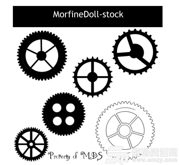 各種機械齒輪圖案PS筆刷下載