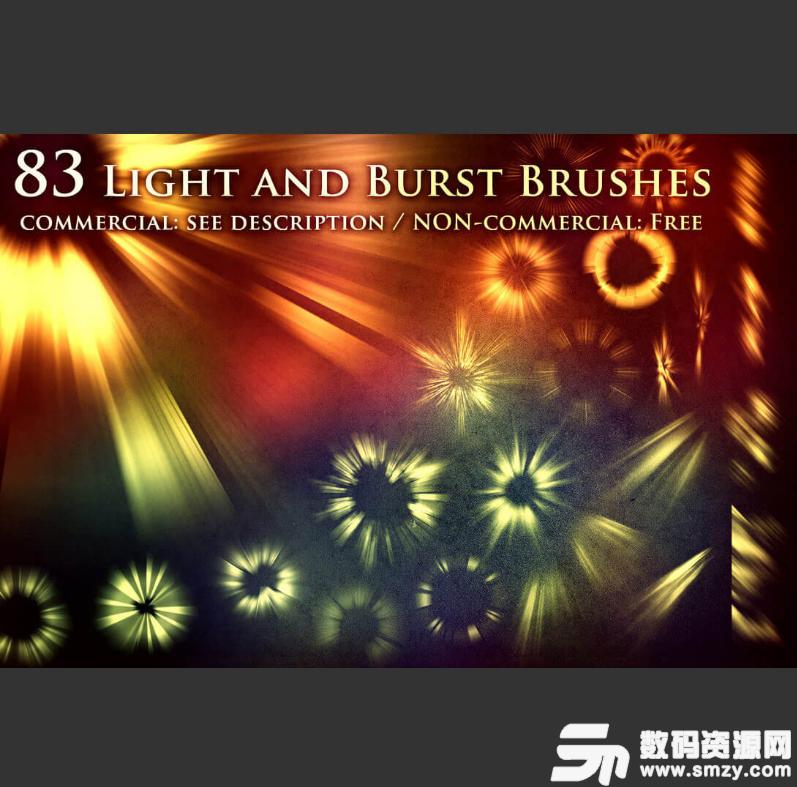 83種光耀、光斑、太陽光線、輻射、 太陽光束等光源光影特
