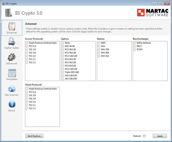 IIS Crypto(系統智能管理工具)綠色版下載