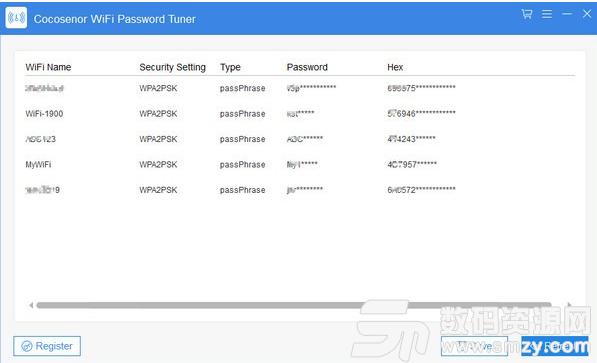Cocosenor WiFi Password Tuner