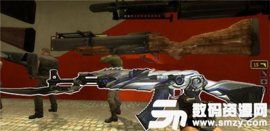 求生之路2SCARH蓝色涂装武器MOD下载