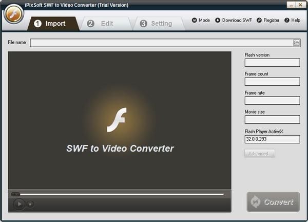 PixSoft SWF to Video Converter(视频转换软件)官方版下载