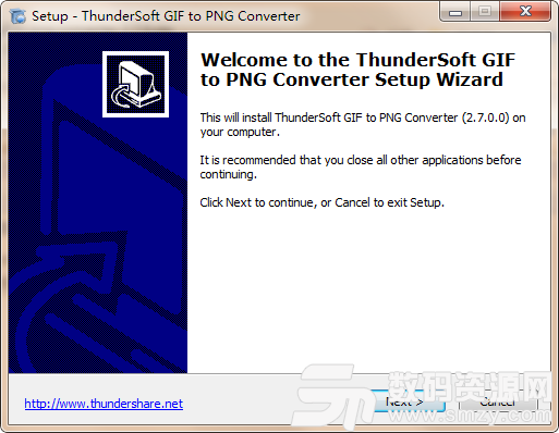 ThunderSoft GIF to PNG Converter安装