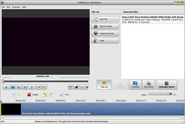 Soft4Boost Split Movie(视频剪辑工具)最新版
