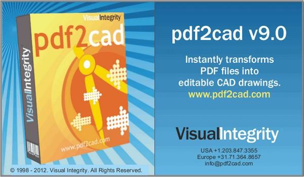 PDF文件转CAD格式工具绿色版(cad软件) v9 最新版