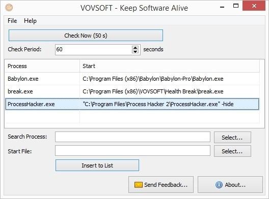 VovSoft Keep Software Alive(軟件運行保護工具)綠色版下載