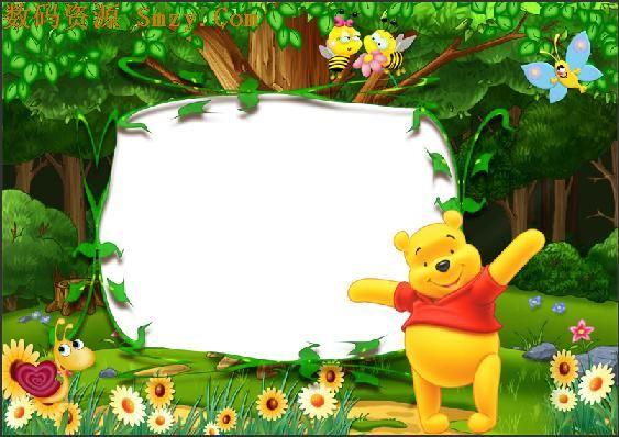 在线照片加相框模板 森林动物乐园共使用照片数1,类属于套版类模板
