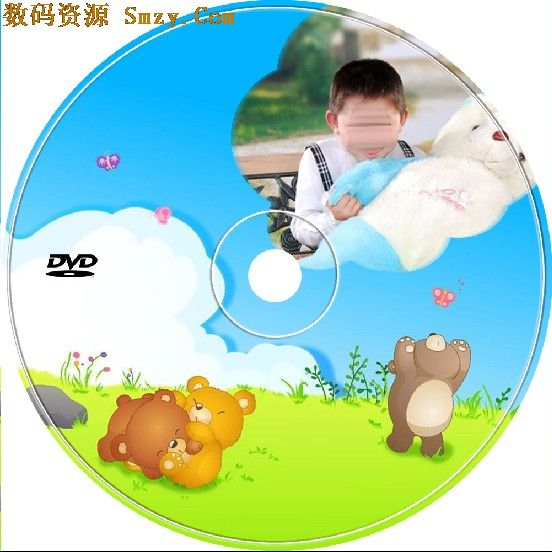 在线儿童光盘封面模板