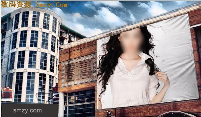 在线户外广告牌制作模板